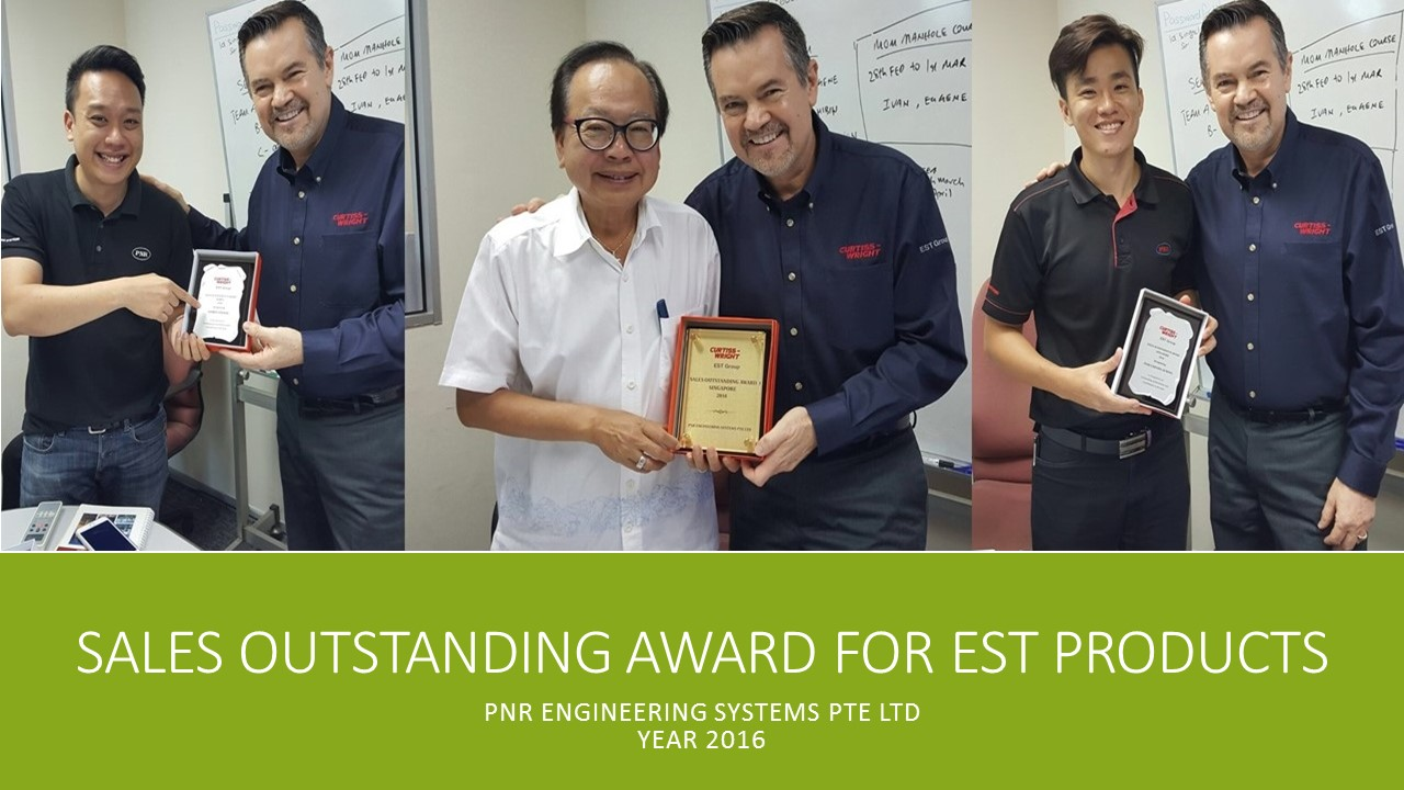 Sales outstanding award FOR EST PRODUCTS